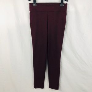 New York & Co Burgundy Skinny Pants Sz M